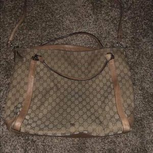 Gucci large canvas tote bag